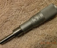 Moore & Wright 0-0.5 inch micrometer head 0.001 inch increments 5.25mm spindle 0-1/2 inch mic head used