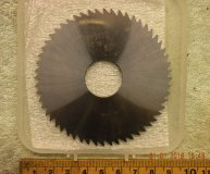 Louis Belet 80mm solid carbide slitting saw 80 x 3 x 22 z=56 Staggered toothed new