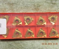 x10 Posithread carbide threading inserts 27ER 6.0ISO PTC2 screwcutting inserts new