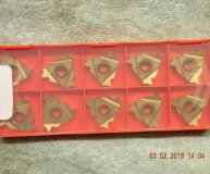 x10 Posithread carbide threading inserts 27NR 5.5ISO PTC2 screwcutting inserts new