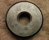 M16 x 1.5 6G Thread ring gauge Go gauge PD 14.994mm used