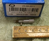 MOORE & WRIGHT 0-5MM MICROMETER HEAD MW310-05 0.02MM INCREMENTS 2MM ANVIL NEW