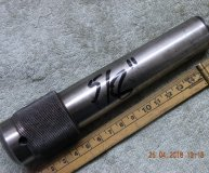 SIP 5/8 inch sidelock adaptor No4 morse taper shank 4MT M14 drawbolt Societe Genevoise knurled head used