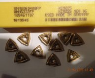 x10 Kennametal WNMG 060408FP KC9225 Carbide inserts New