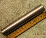 1 inch grinding mandrel hardened & ground centred each end used inspection lot #2