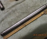 1 inch grinding mandrel long hardened & ground centred each end used lot #6