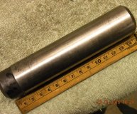 1 5/16 inch grinding mandrel hardened & ground centred each end used
