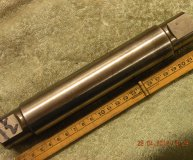1 1/2 inch grinding mandrel hardened & ground centred each end used