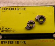 x2 Horn Carbide groove milling inserts r10p.0300.1.02 TH35 new