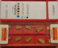 x10 Sandvik N151.2-300-5E 2135 carbide parting inserts new