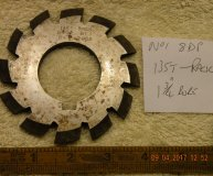 Involute Gear cutter No1 8DP 135 teeth to Rack 1 3/4 inch bore used
