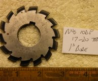 Involute Gear cutter No6 10DP 17-20 teeth 1 inch bore used