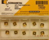 x10 Kennametal XPLT 060308ER-D41 X500 carbide inserts new
