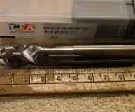 Iscar 16mm carbide end mill for aluminium with 3.2mm corner radius 3 fluted for ally new