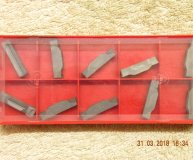 x10 Sandvik N123K2-0600-0004-TF H13A Carbide Parting Grooving inserts new