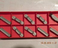 x10 Sandvik N123L2-0800-AM H10 Carbide Parting Grooving inserts new
