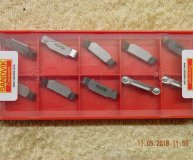x10 Sandvik N123H2-0475-R0 H13A Carbide Parting Grooving inserts new