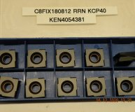 x10 Kennametal C8FIX180812RRN KCP40 Carbide inserts Fix Perfect carbide flat box