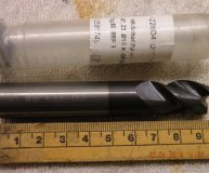 16mm solid carbide end mill K30F-DCF for Aluminium Tialn coated for Ally new