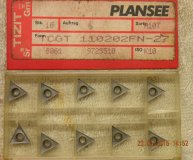 x10 PLANSEE TIZIT TCGT 110202FN-27 K10 carbide inserts new