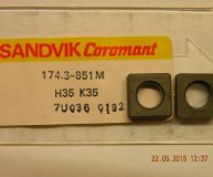 x1 off Sandvik shim seating 174.3-851M suits SNMG 12 lathe toolholders new