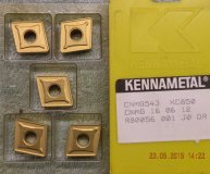 x5 Kennametal CNMG 160612 KC850 carbide inserts new