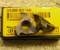 x2 Horn Carbide groove milling inserts 311.0000.5022 TA45 new