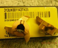 x2 Horn Carbide groove milling inserts 313UK001143 TN35 new