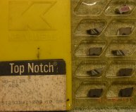x9 KENNAMETAL TOP NOTCH GROOVE INSERTS NG-813R K420 NEW