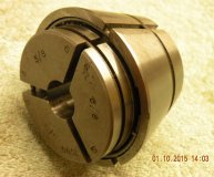 Marlco collet (1590 series) 5/8 inch round bore used