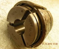 Marlco collet (1590 series) 13/16 inch round bore used