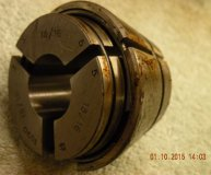 Marlco collet (1590 series) 15/16 inch round bore used