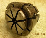 Crawford C4 Multibore collet 3/8-1/2 inch range round bore used