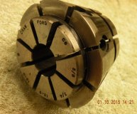 Crawford C6 Multibore collet 5/8-3/4 inch range round bore used
