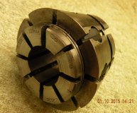 Crawford C8 Multibore collet 7/8-1 inch range round bore used