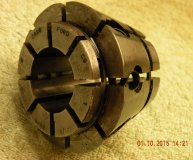 Crawford C9 Multibore collet 1-1 1/8 inch range round bore used