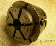 Crawford C72 Multibore collet 1/2-5/8 inch range hexagonal bore used