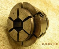 Crawford C73 Multibore collet 5/8-3/4 inch range hexagonal bore used