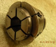Crawford C74 Multibore collet 3/4-7/8 inch range hexagonal bore used