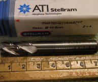 Stellram 10mm solid carbide end mill 4 fluted new