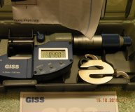 Giss 0-25mm metric digital micrometer IP54 0.001mm increments boxed new