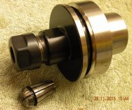 ER16 collet chuck HSK63F for CNC Routers woodworking machines etc new