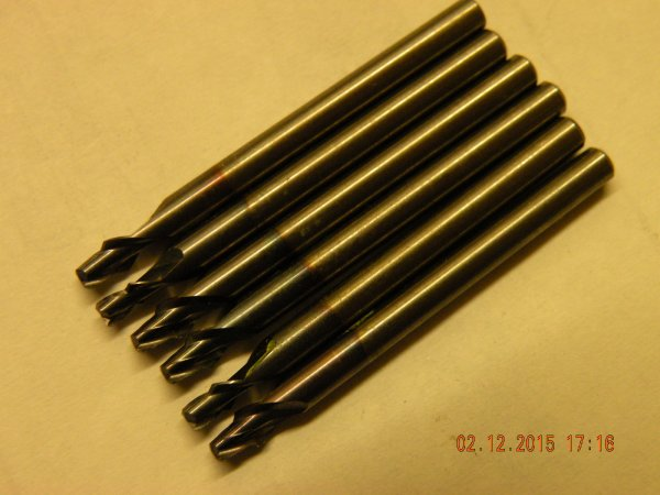 """SOLID CARBIDE MINIATURE SLOT DRILL 0.38MM-1.44MM DIAMETER 1//8/"""" SHANK MANY SIZES"""