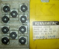 x10 KENNAMETAL CARBIDE INSERTS RNMG 120400 KC910 (1/2