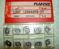 x10 PLANSEE CARBIDE INSERTS LDHT 120440FR-27 H10 K10 NEW