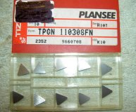 x10 PLANSEE CARBIDE INSERTS TPGN 110308FN  H10T K10 NEW