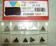 x10 PLANSEE TIZIT CARBIDE INSERTS TPUN 110304FN H10T HW K10 NEW