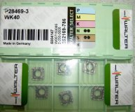 x10 WALTER CARBIDE INSERTS P28469-3 WK40 NEW