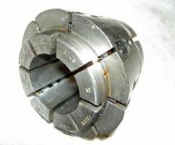 Crawford C10 Multibore collet----1 1/8-1 1/4 inch range round used