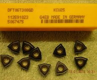 x10 KENNAMETAL CARBIDE INSERTS DFT 06T308GD KCU25 NEW